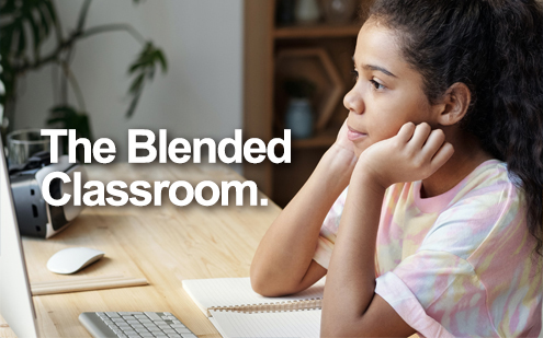 Blended classroom image